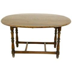 Antique Oak Table, Oak Kitchen Table, Drop Leaf Table, Laidler & Co., B1153
