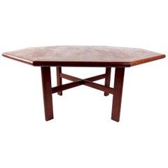 Large Scandinavian Modern Teak Dining Table