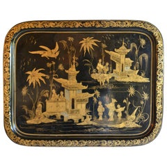 Large French Tole Tray
