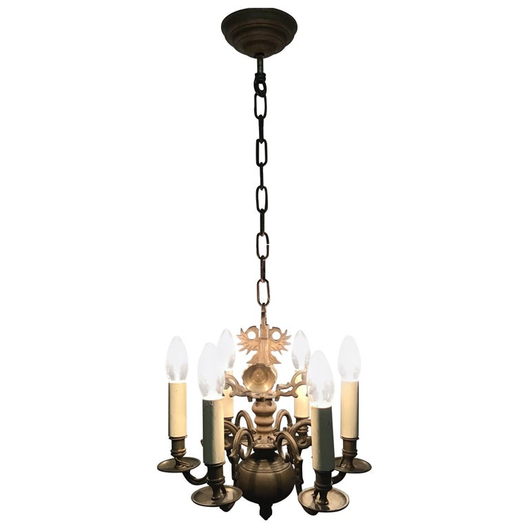 Dutch baroque 18th century bronze two tier chandelier for sale at antique dutch bronze baroque chandelier late 19th century aloadofball Image collections