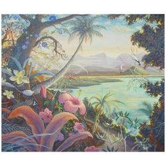 Australian Tropical Paradise Oil Painting