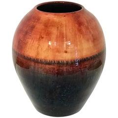 Large Midcentury Flambé Vase, by Walter Moorcroft