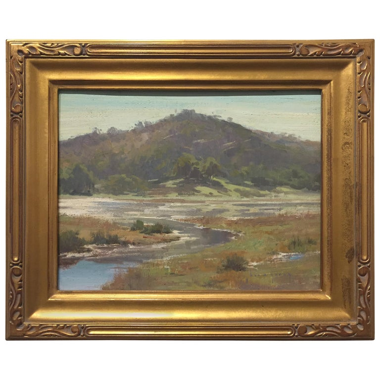 """""""Annie's Canyon, San Elijo Lagoon"""" Plein Air Painting by Ben M. Young"""