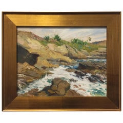"""""""Sun Gold Point, La Jolla"""" Plein Air Painting by Ben M. Young"""