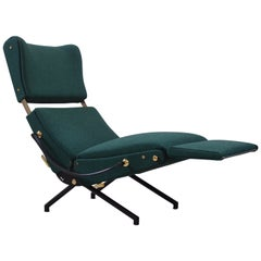 Osvaldo Borsani P40 Reclining Lounge Chair by Tecno