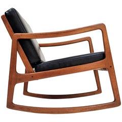 Ole Wanscher for France & Son Model 120 Teak Rocking Chair for France & Son