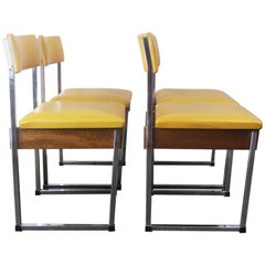 Set of Four German 1970s Midcentury Office or Dining Chairs