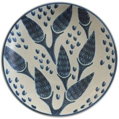 Danish Mid-Century Modern Ceramic Wall Plate by Soholm