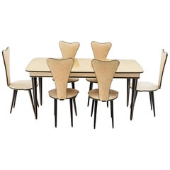 Dining Table and Set of Six Chairs by Umberto Mascagni, 1950s