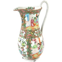 Late 19th Century Chinese Export Rose Medallion Pitcher