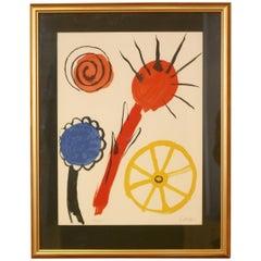 Alexander Calder lithograph 'Inspiration', 1969