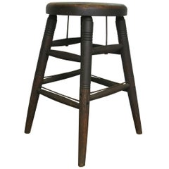 Antique Industrial Stool S Bent and Brothers Wooden Stool