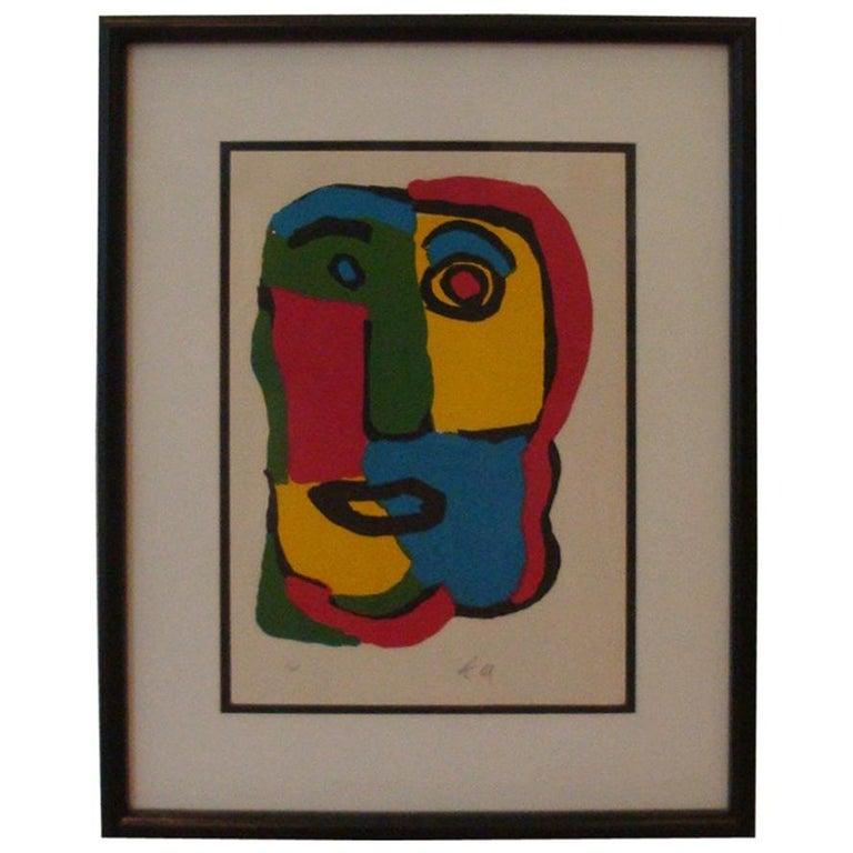 Karel Appel Face Lithograph
