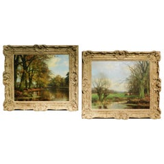 Dutch Artist Jan Holtrop, Pair of Oil on Canvas Paintings