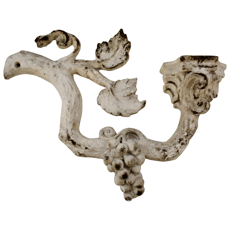 La Belle Époque Parisian Plaster Molded Grapevine and Pedestal Wall Fragment
