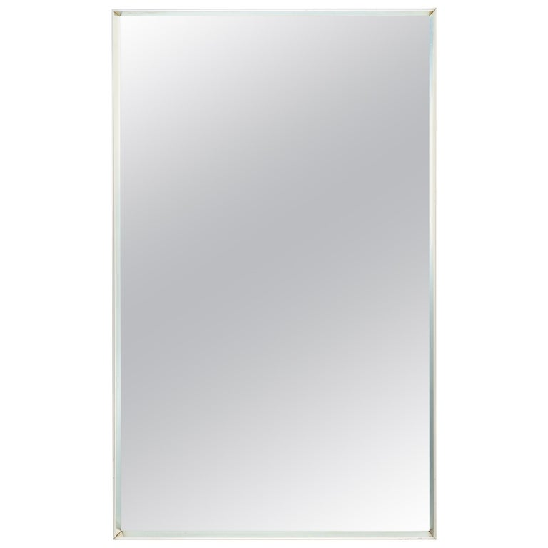 Rectangular Chrome Mirror in the Style of Fabricius Kastholm For Sale