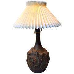 Danish Modern Abstract Stoneware Table Lamp by Judi Kunst, 1970s