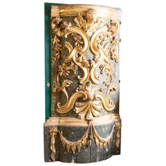 Exceptional 18th Century Carved Giltwood Door
