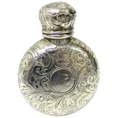 Antique English Victorian Hallmarked Sterling Silver Scent/Perfume Bottle