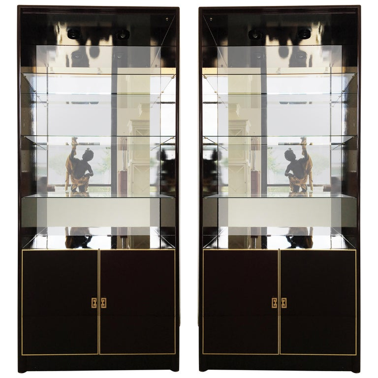 Pair of Lacquered China Cabinets Vitrines by Maison Jansen