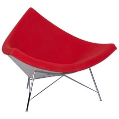 Vitra Coconut Chair Designer Fabric Chair Red Chrome