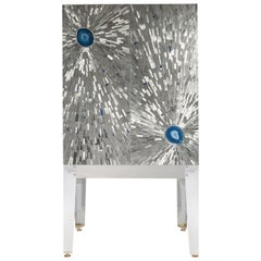 Cabinet in Mosaic Stainless Steel by Stan Usel