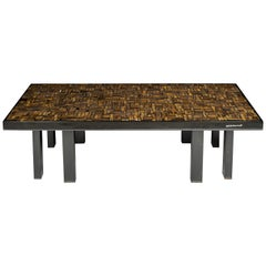 Coffee Table Rectangular in Tiger Eyes by Etienne Allemeersch