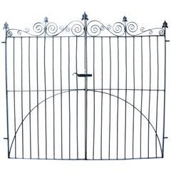 Pair of Wrought Iron Georgian Pedestrian Gates