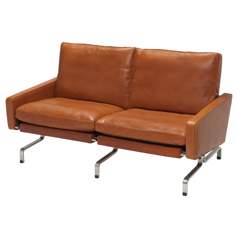 Cognac Leather PK 31 /2 Sofa by Poul Kjærholm for E. Kold Christensen, 1960