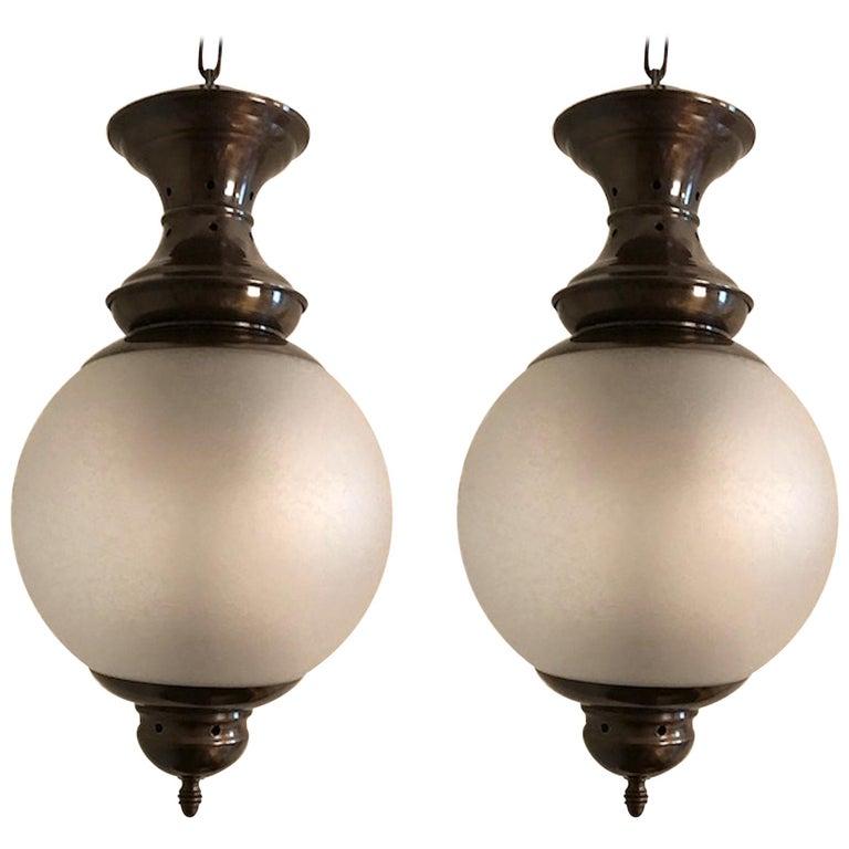 """Pair of Luigi Caccia Dominioni for Azucena Pendant Light Model """"Ls1"""""""