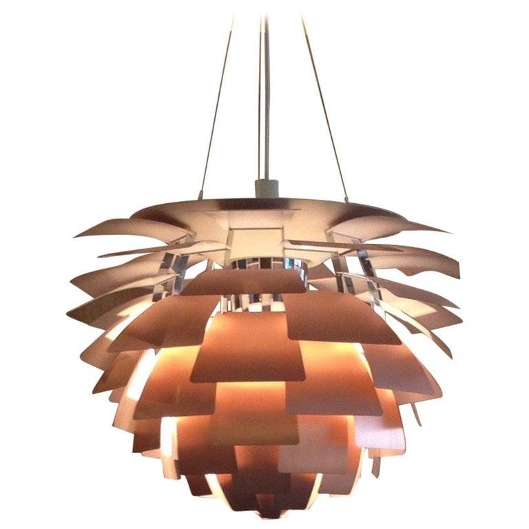 Copper PH Artichoke Lamp by Poul Henningsen, Louis Poulsen, Denmark