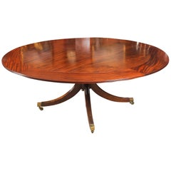 Vintage Mahogany Jupe Dining Table and Leaf Cabinet, Mid-20th Century