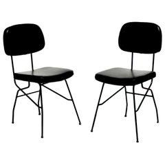 1950s by Gastone Rinaldi for RIMA Midcentury Italian Design Pair of Chair