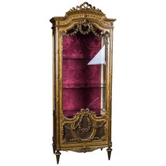Original 19th Century French Vitrine in Louis Seize Style
