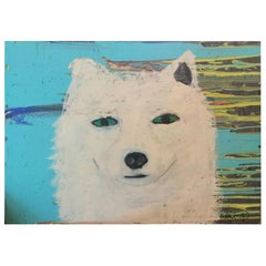 Folk Art / Outsider Dog Painting by Earl