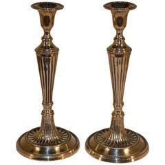Pair of Georgian Brass Candlesticks