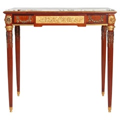 Late 19th Century French Louis XVI Style Mahogany Writing Table