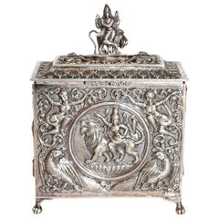 Mid-19th Century Silver Plated Box from Siam