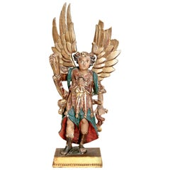Early 19th Century Italian Carved Giltwood Angel