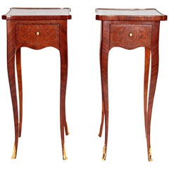 Pair of Petite Louis XV Transitional-Style Side Tables