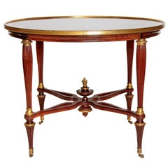 19th Century Russian Neoclassical Centre Table with Burled Walnut Top