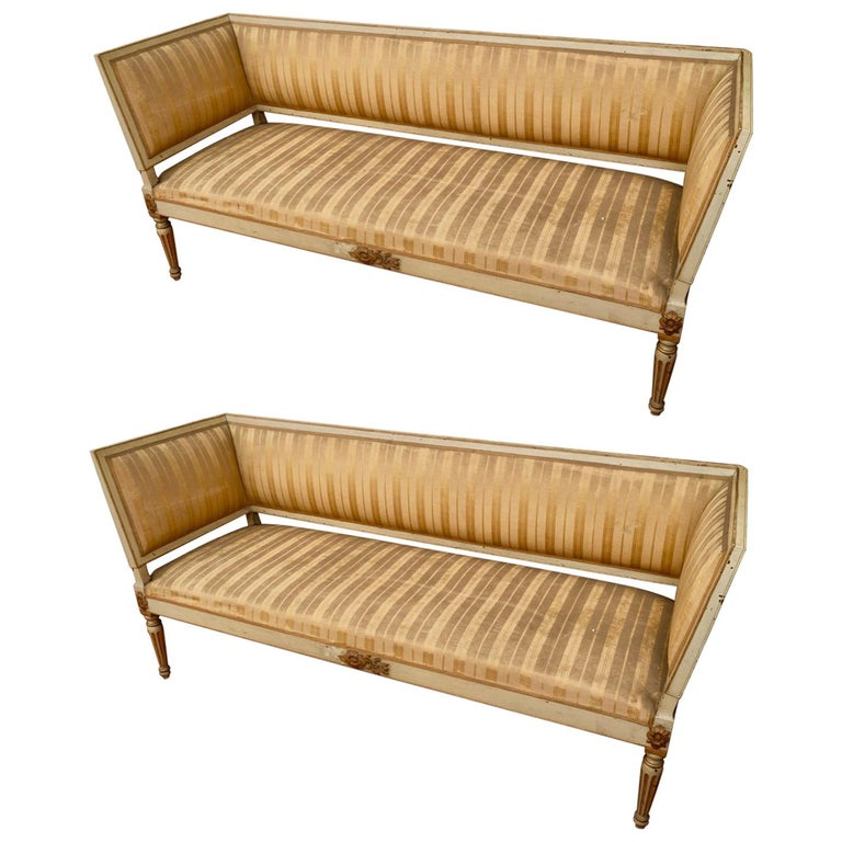 Pair of 19th Century Napoleon III Settees For Sale