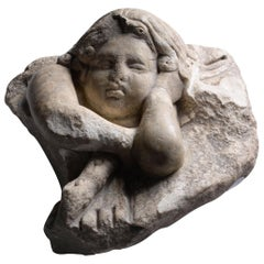 Ancient Roman Marble Figure of Sleeping Cupid or Eros, 100 AD