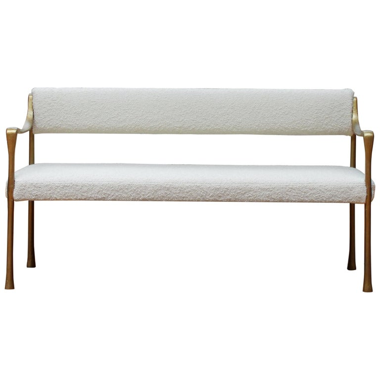 Giac Settee with Aluminium Hand-Patinated Frame Contemporary Seating