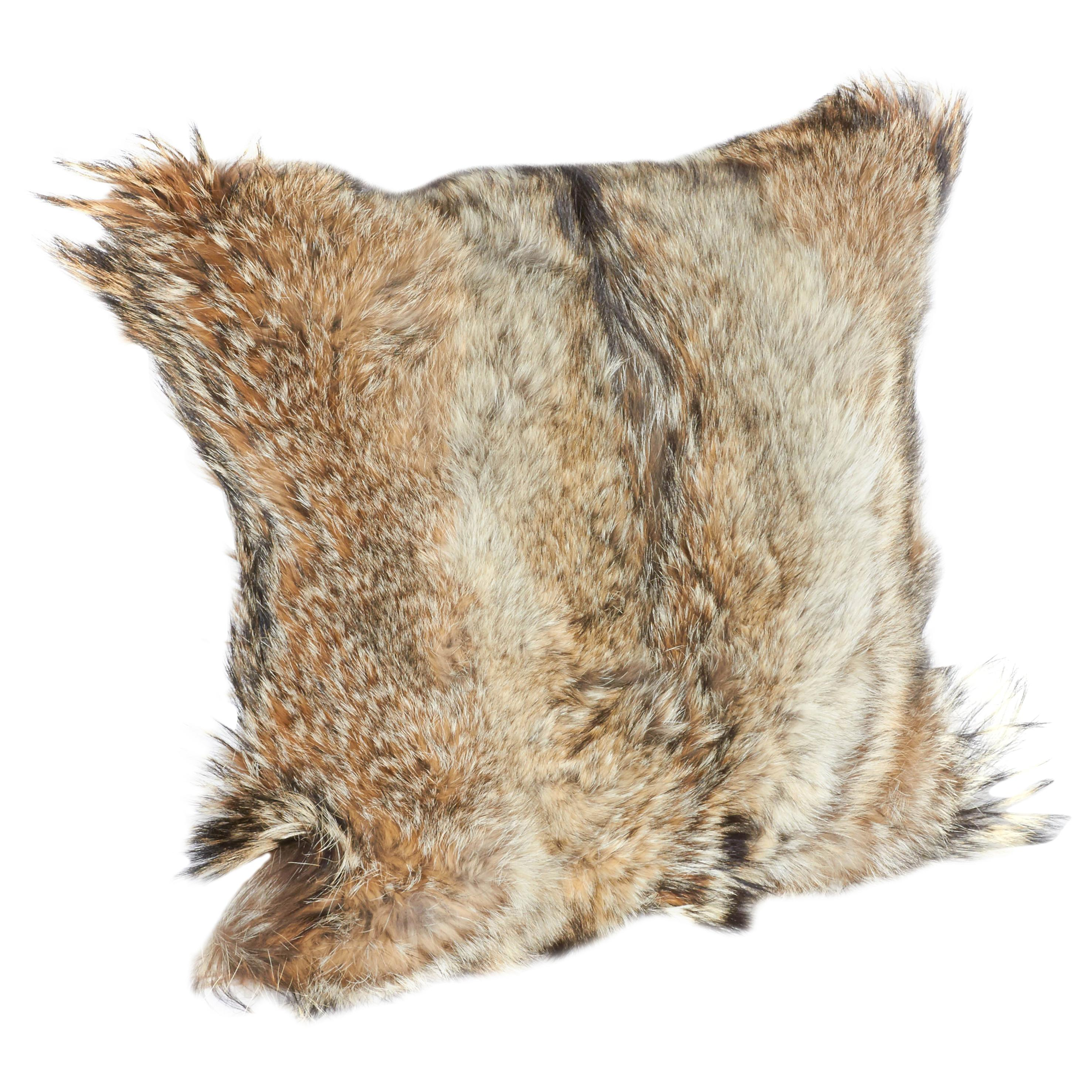 Luxury Coyote Fur Throw Pillows