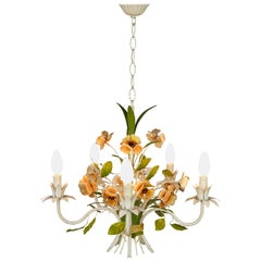 French Design Wrought Iron Flowers Chandelier
