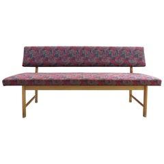 1970s Danish Modern Upholstered Oak Bench by Sorø Mobelfabrik