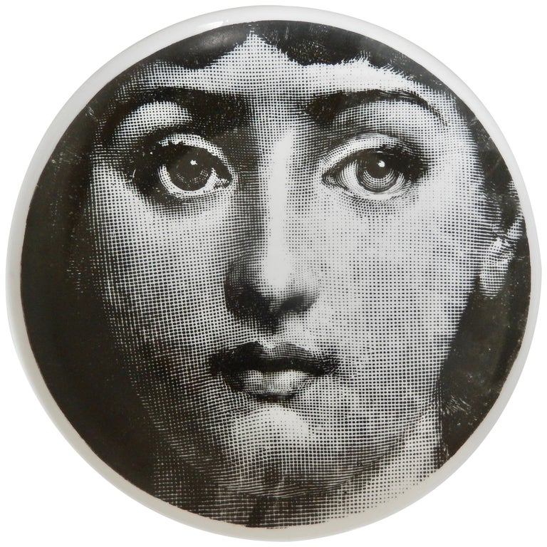 Midcentury Fornasetti Iconic Face Plate, Tema e Variazoni N1 For Sale