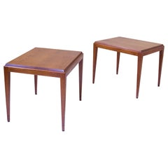 Vintage Pair of Side Tables in American Black Walnut, U.S.A, 1950s