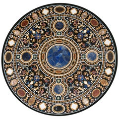 """""""Pietra Dura"""" Tabletop, Marble and Hardstones, circa End of the 20th Century"""
